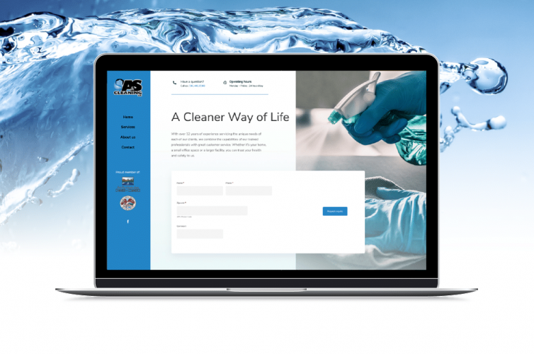 A Professional Looking Website – A&S Cleaning