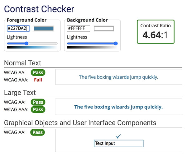Contrast Checker graphic