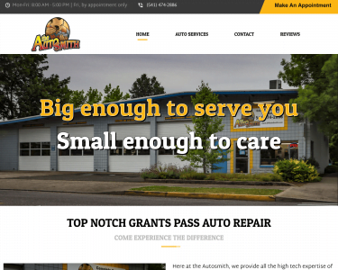 The Autosmith Home page Feature