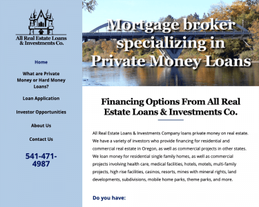 All Real Estate Loans Feature