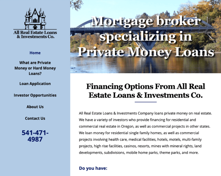 Increase Visibility – All Real Estate Loans & Investments