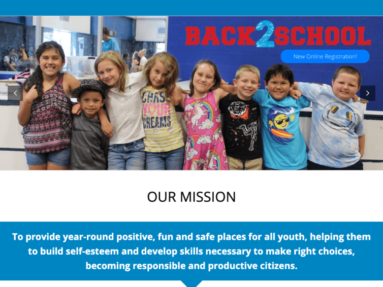 A Leaner Website – Boys & Girls Club of the Rogue Valley
