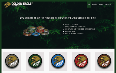 Golden Eagle Herbal Chew website