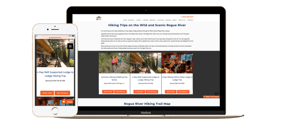 camping page layouts