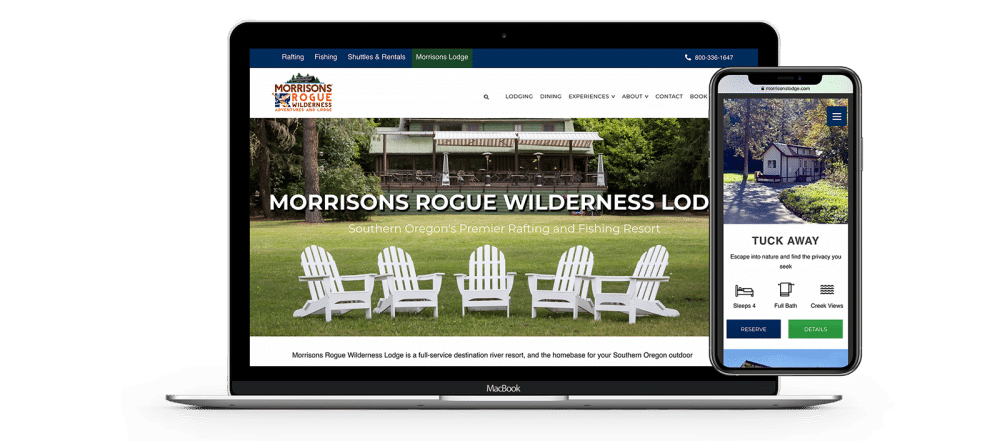 Morrisons Rogue River Lodge website homepage
