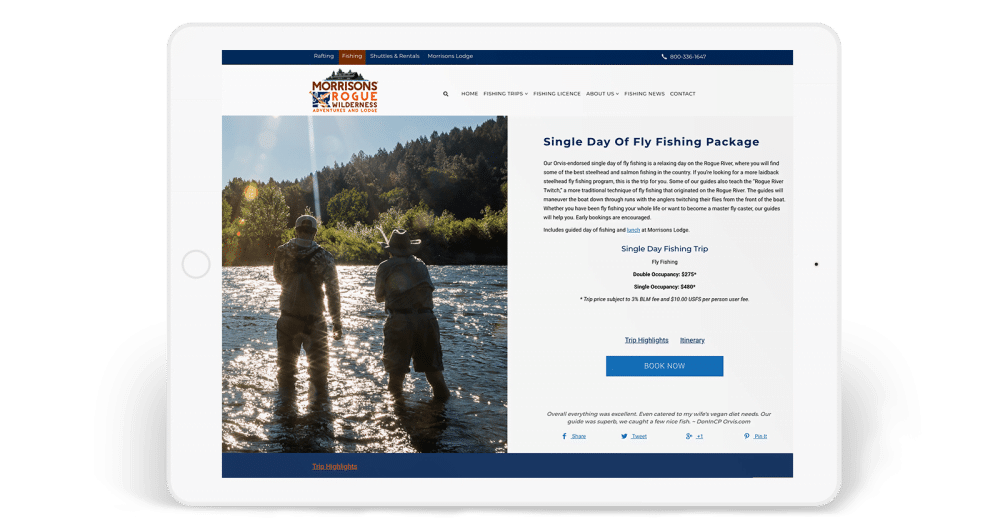 Morrisons Rogue Wilderness Adventures fishing trips