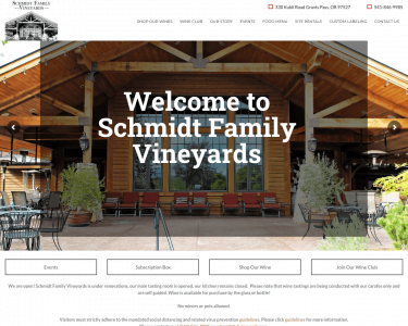 Schmidt Vally Vineyards - updated Feature (6/2020)