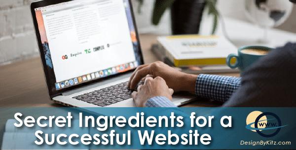 Secret Ingredients for successful websites